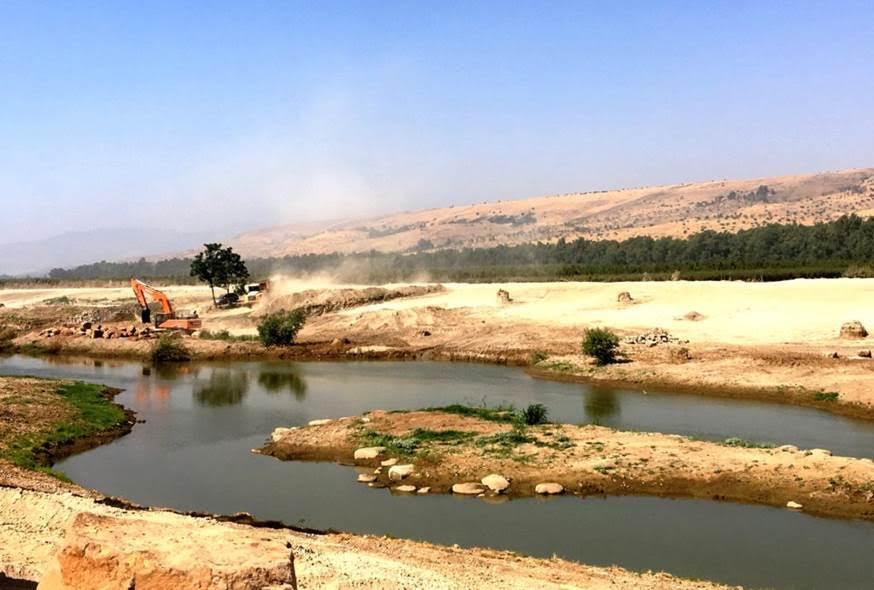 החל פרויקט שיקום קטע מנהר הירדן הסמוך לגשר הפקק