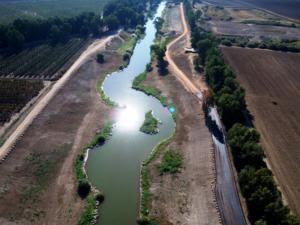 הושלם פרויקט הגבהת הסוללה בתעלה המזרחית של הירדן